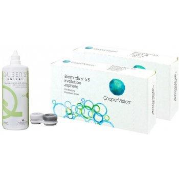 (2 Packs - 12 Lenses) Biomedics 55 Evolution + Gift 1 Liquid 360ml