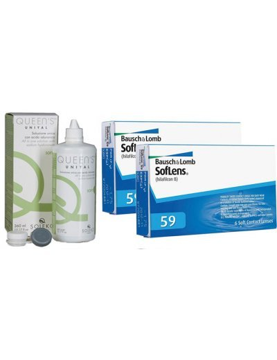 12 monthly Soflens 59 (2 Packs) + Gift 1 Liquid 360ml
