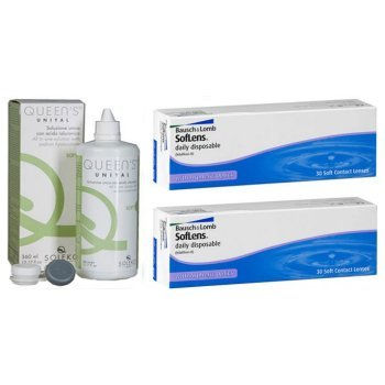 60 Daily Contact Lenses Bausch & Lomb SofLens Daily Disposable + Gift 1 Liquid Contact Lens 360ml