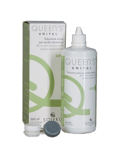 Queens Uniyal Soleko Contact Lenses Fluid with Sodium Hyaluronate 360ml & Lenses Case