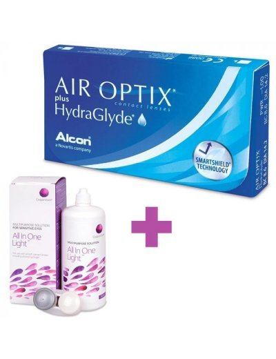 Air Optix Plus HydraGlyde + Solution Cooper Vision All In One Light 360 ml