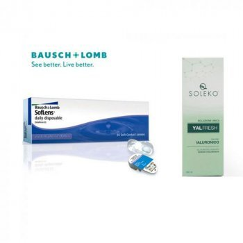30 Daily Contact Lens Soflens + GIFT 1 Liquid 360ml