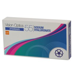 Vision Optics 55 Sodium Hyaluronate Italian (6 Months Hydrogel Contact Lenses)